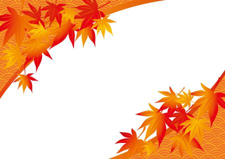 A beautiful autumn leaves illustration
