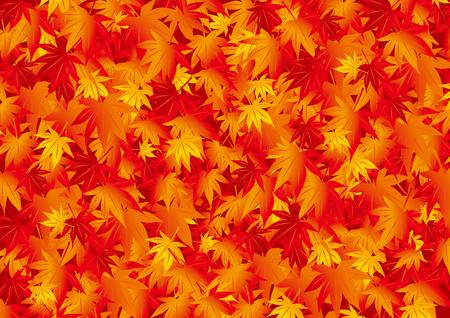 Una hermosa ilustración de hojas de otoño