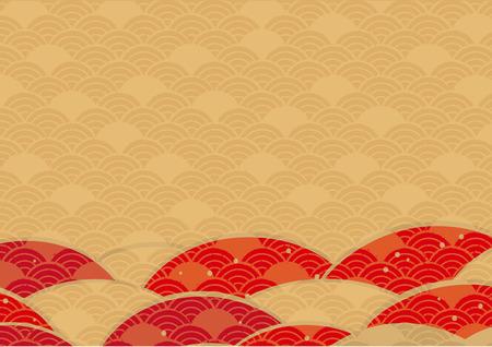 Japanese fan wallpaper pattern