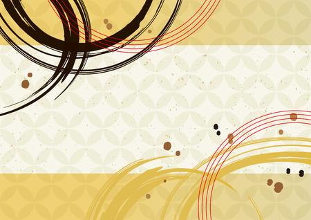 Japanisches Tapetenmuster mit Pinselstrichen Vektorgrafik