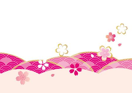 It is a beautiful illustration of sakura.