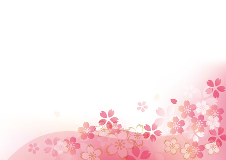 Japanese pattern of cherry blossoms