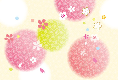 Cherry blossoms in Japan 일러스트