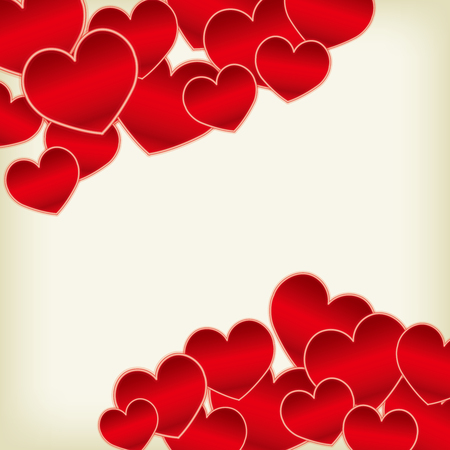 Cute heart material Illustration