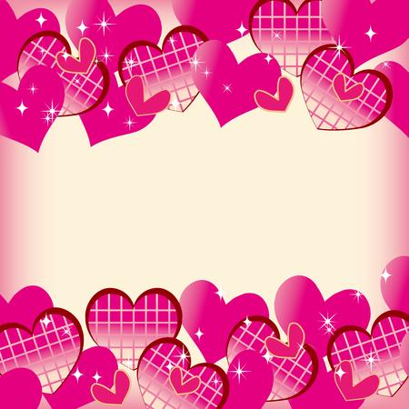 Cute heart material