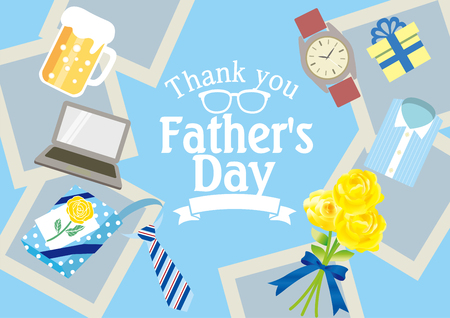 Fashionable poster for Father's Day Illustration