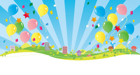 Illustration that balloons fly well