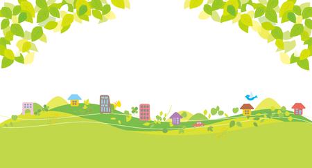 Beautiful eco city 矢量图像