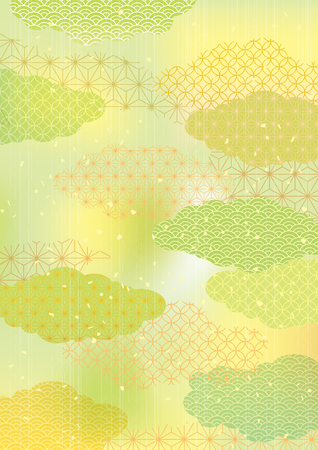 Green Japanese style pattern