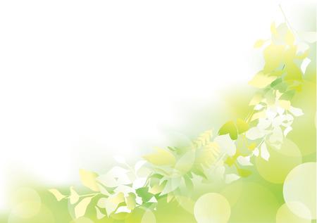 Verde fresco alla luce Vettoriali