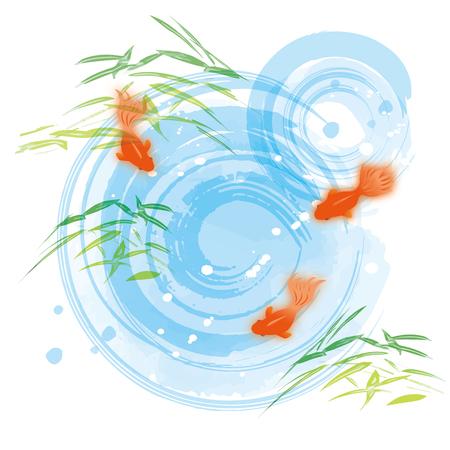 Illustration of cool goldfish
