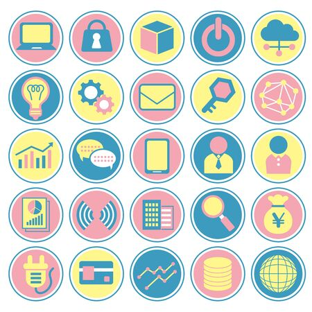 Various icons set of business Illustration