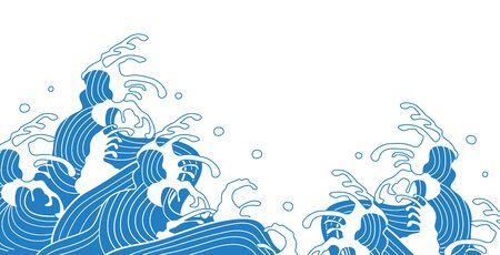 Beautiful illustration of Japanese wave