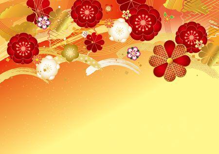 Japanisches Musterhintergrundmaterial für japanische Pflaume Vektorgrafik