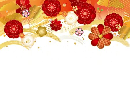 Japanese pattern background material for Japanese plum Vektorgrafik