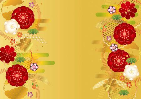 Material de fondo de patrón japonés para ciruela japonesa