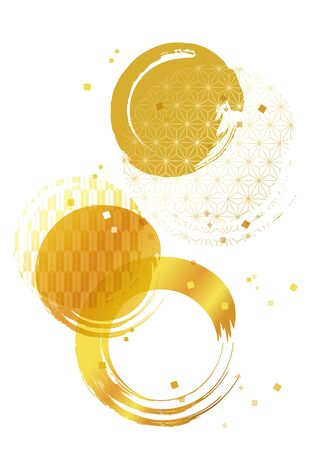 Background Illustration of a Beautiful Japanese Pattern of Gold.