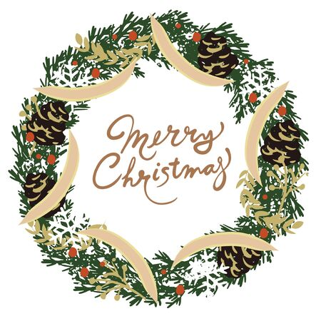 A background material illustration of a Christmas tree.  イラスト・ベクター素材