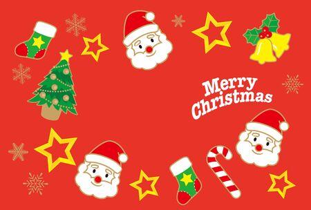 Una ilustración de una hermosa imagen de Navidad de invierno. Ilustración de vector
