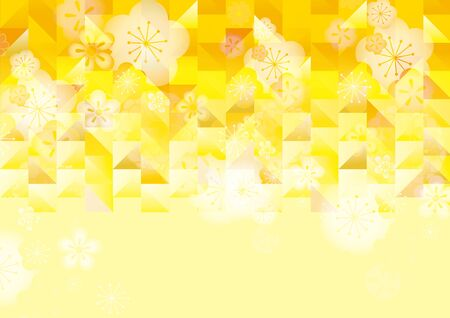 Background Illustration of a Beautiful Japanese Pattern of Gold. Archivio Fotografico - 134335738