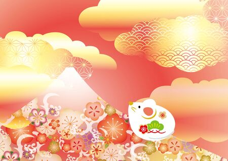 It is a beautiful Japanese pattern of Mt. Fuji in Japan.