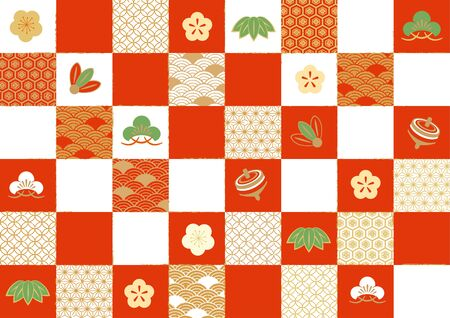 Congratulations Japanese pattern Banque d'images - 136511685