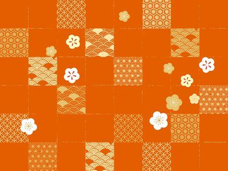 Congratulations Japanese pattern Banque d'images - 136511672