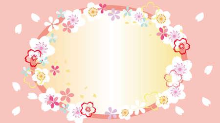 Japanese cherry blossom beautiful cherry background image