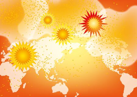 Background material for viruses and recent images Illustration