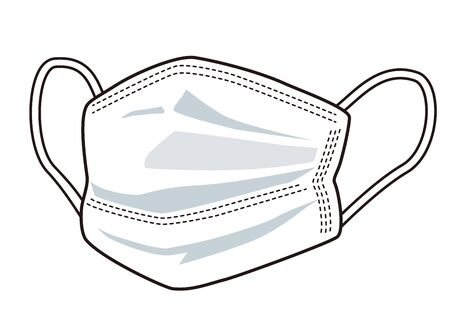 Illustration of a virus prevention mask