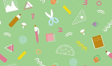 Cute background illustration of stationery Illustration
