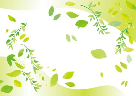 Image of refreshing green leaves