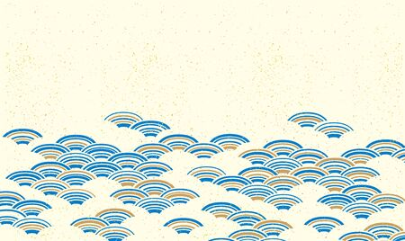 Beautiful hand-painted Japanese pattern in gentle colors