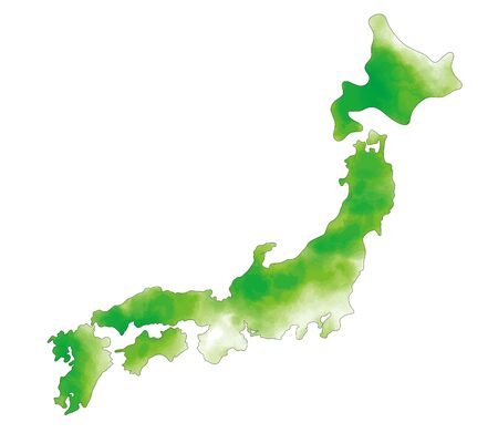 It is an illustration of a map of Japan Illustration