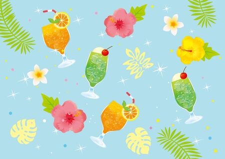 A lovely tropical background material