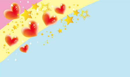 background illustration of cute hearts