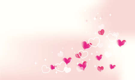 It is a background illustration of a cute heart