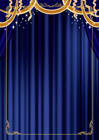 It is a luxurious gold curtain with a classic image such as Christmas and concerts.