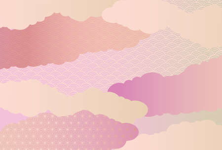 It is a background illustration image of a beautiful Japanese pattern in Japan. Vettoriali