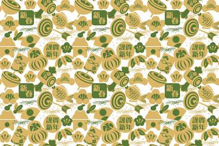 It is a background illustration image of a beautiful Japanese pattern in Japan.