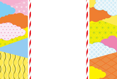 Colorful Japanese pattern background
