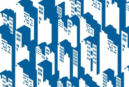 City, city pattern illustration background Ilustração