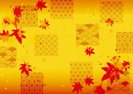 It is a background material of autumn leaves