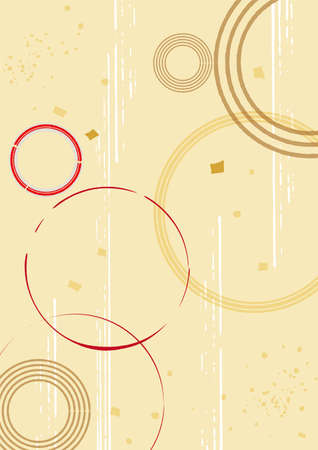 Japanese style pattern background illustration material