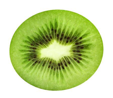 Sliced juicy kiwi isolated on white background