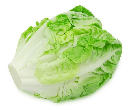 Lechuga fresca ensalada de lechuga romana aislados sobre fondo blanco