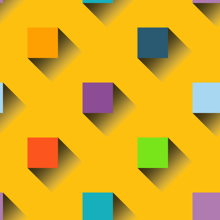 Vector seamless pattern background with colorful squares Vector