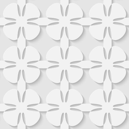 simple purity flowers: Vector 3d seamless flower abstract pattern. Minimalistic monochrome background for decoration wallpaper and print. Eps10