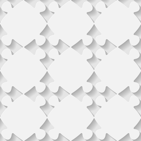 volumetric: Vector 3d seamless puzzle pattern. Minimalistic monochrome background for decoration wallpaper and print. Eps10