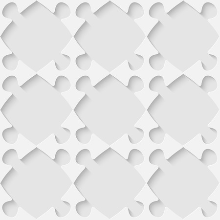 Vector 3d seamless puzzle pattern. Minimalistic monochrome background for decoration wallpaper and print. Eps10 Vector